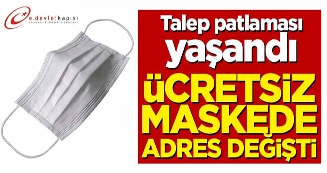 Talep patlaması yaşandı! Ücretsiz maskenin adresi değişti