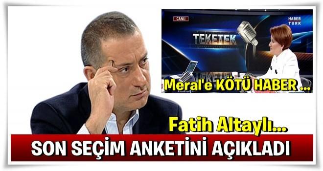 Fatih Altaylı son seçim anketini açıkladı