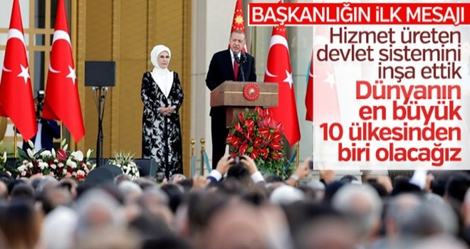 Başkan Erdoğan'ın ilk konuşması