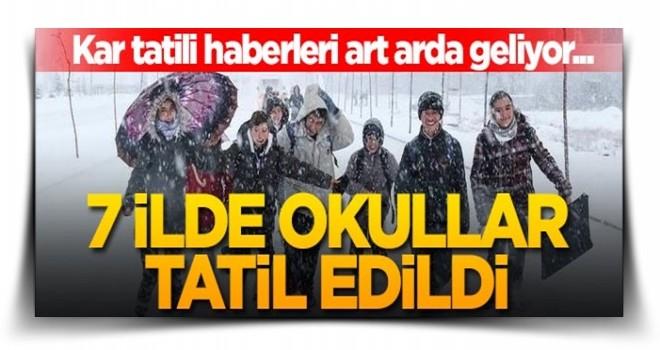 Kar tatili haberleri art arda geliyor... 7 ilde okullar tatil edildi