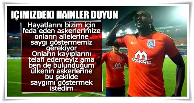 Adebayor'dan Mehmetçik'e selam