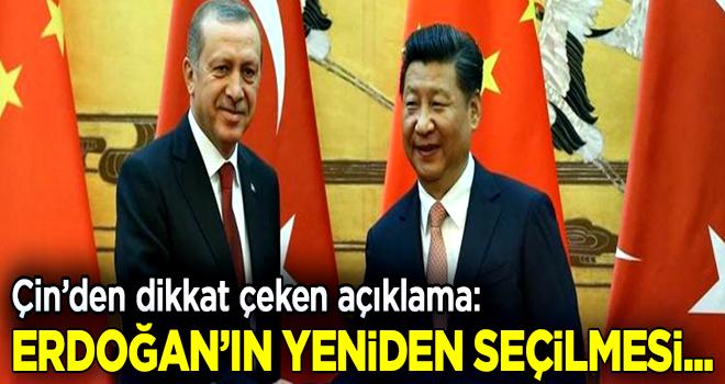 Çin'den dikkat çeken Erdoğan açıklaması