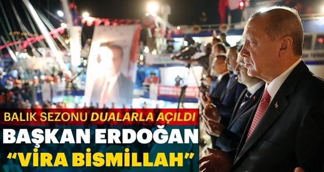 Erdoğan Sarıyer'de balık av sezonunun açılışını yaptı