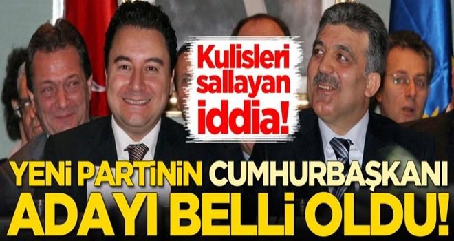 Çarpıcı iddia: Yeni partinin cumhurbaşkanı adayı belli oldu!