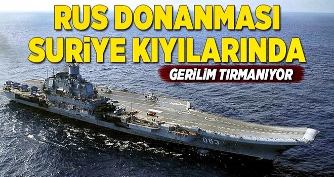 Rus donanması Suriye kıyılarında .