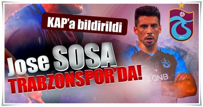 Son dakika: Trabzonspor, Sosa'yı resmen açıkladı!