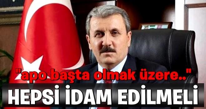 Musfafa Destici'den sert sözler: Hepsi idam edilmeli