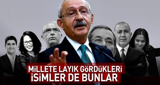 İşte CHP'nin seçimler için aday gösterdiği vukuatlı isimler .