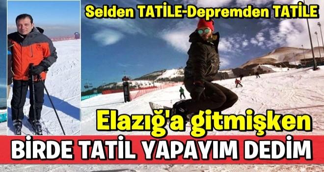 İ.oğlu, Erzurum'a tatile gitti