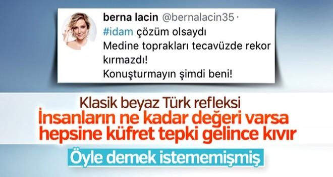 Berna Laçin'in Medine paylaşımları kızdırdı