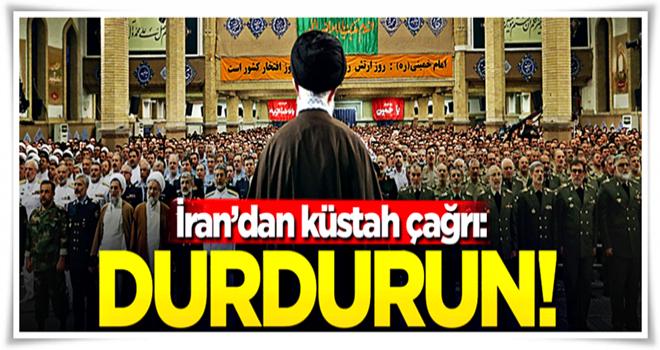 İran'dan Türkiye'ye küstah çağrı!