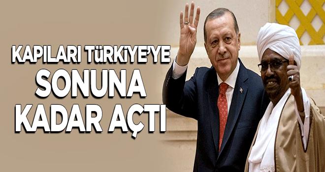 Sudan kapıları Türkiye'ye sonuna kadar açtı