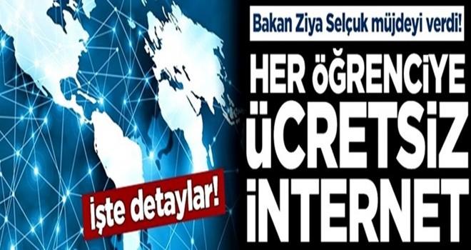 Bakan Ziya Selçuk müjdeyi verdi! Her öğrenciye ücretsiz internet