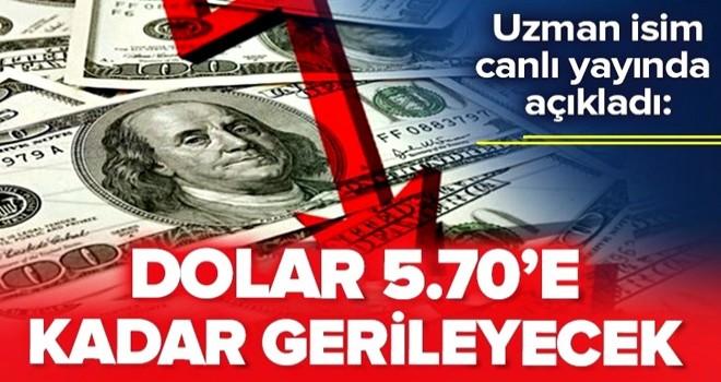 """""""Dolar 5.70'e kadar gerileyecek"""" Uzman isim canlı yayında açıkladı."""