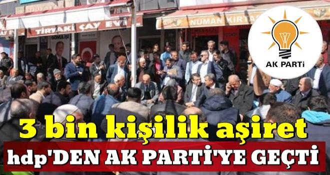 3 bin kişilik aşiret HDP'den AK Parti'ye geçti!