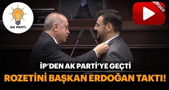 İP'den istifa eden Akkal'a AK Parti rozetini Cumhurbaşkanı Erdoğan taktı
