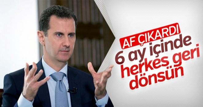 Suriye'de af çıktı