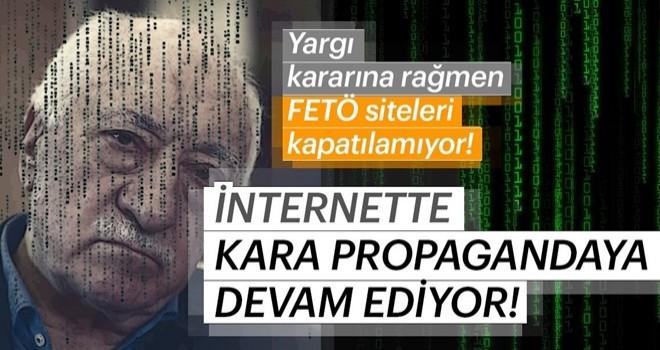 FETÖ'nün siteleri kapatılma kararına rağmen kirli propagandalarına devam ediyor!
