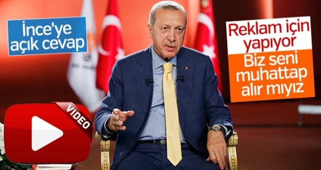 Erdoğan'dan İnce'nin davetine tepki