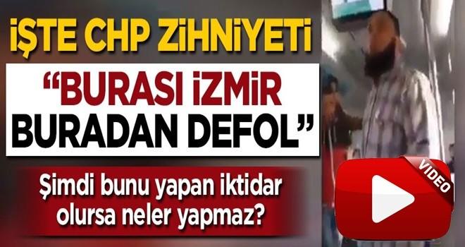 İzmir'de sakallı vatandaşa sözlü saldırı .