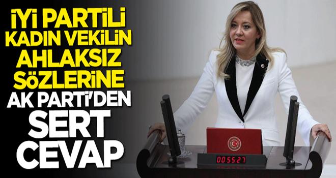 İYİ Partili kadın vekilin ahlaksız sözlerine AK Parti'den sert cevap