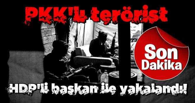 Bakanlık duyurdu! PKK'lı terörist HDP'li başkan ile yakalandı!