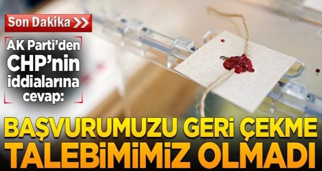 Ak Parti'den CHP'ye