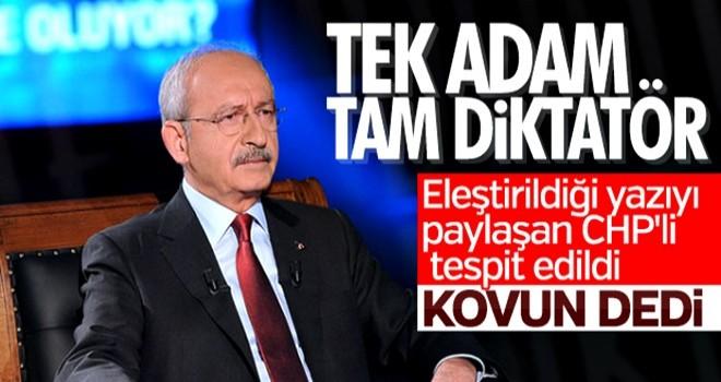 Kemal Kılıçdaroğlu'nu eleştiren partiliye ihraç istemi