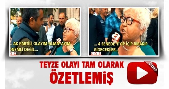 Eski Türkiye'yi bir de bu teyzeden dinleyin!