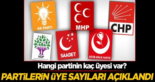 Hangi partinin kaç üyesi var? Partilerin üye sayıları açıklandı