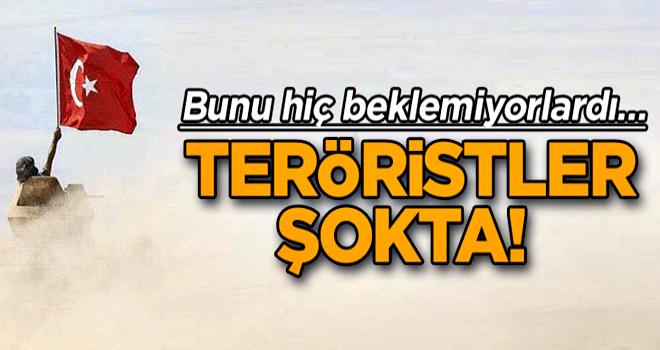 Bunu hiç beklemiyorlardı… Teröristler Şokta!