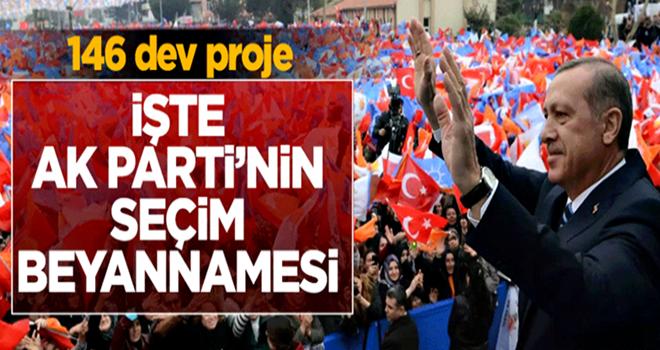 AK Parti'nin seçim beyannamesine ilişkin detaylar...