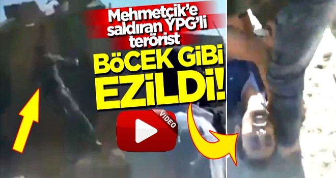Mehmetçik'e saldıran YPG'li terörist, aracın altında kalarak böcek gibi ezildi!