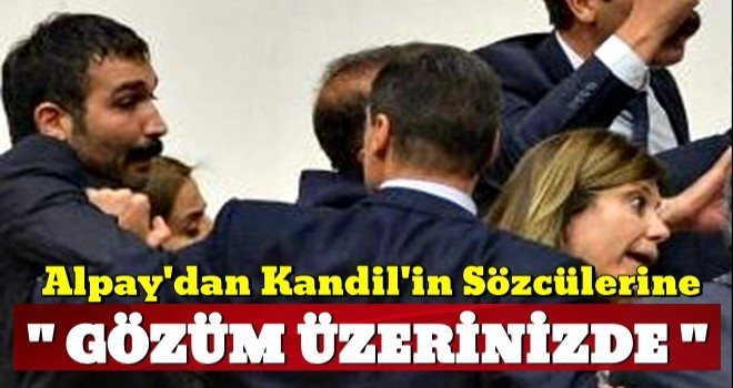 Alpay Özalan'dan HDP'lilere: Gözüm üzerinizde