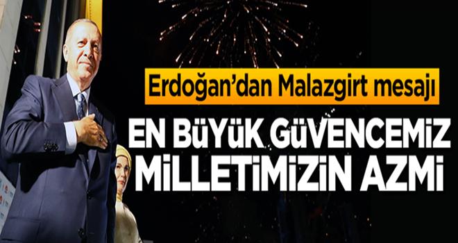 Başkan Erdoğan'dan Malazgirt mesajı