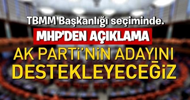 MHP AK Parti'nin adayını destekleyeceğini açıkladı .
