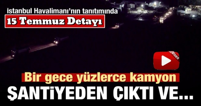 İstanbul Havalimanı'nın tanıtımında müthiş detay
