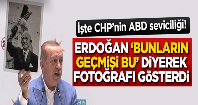 Erdoğan 'Bunların geçmişi bu' diyerek fotoğrafı gösterdi
