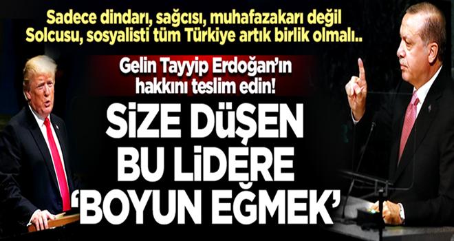 Karahasanoğlu: Gelin Tayyip Erdoğan'ın hakkını teslim edin...