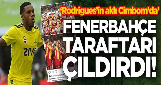 Rodrigues'den Fenerbahçe taraftarını çıldırtan hareket!