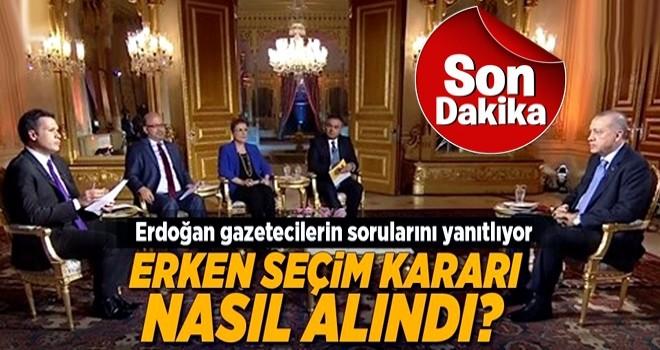 Cumhurbaşkanı Erdoğan canlı yayında soruları yanıtlıyor .