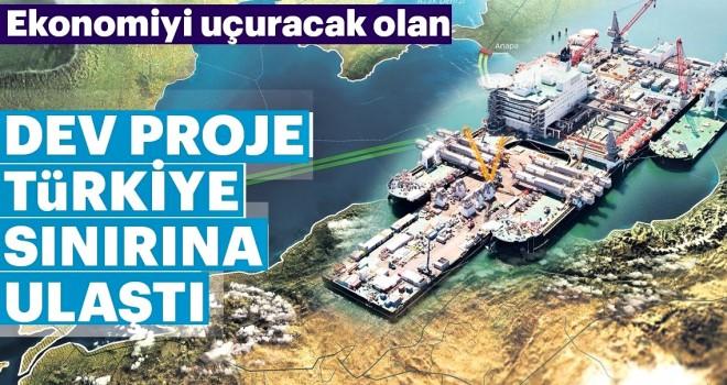 TürkAkım'ı Türkiye sınırına ulaştı