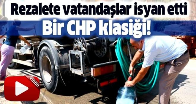 CHP'li İzmir belediyesinde yine su rezaleti! Vatandaş isyan etti .