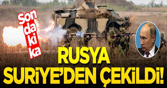 Rusya Suriye'den çekildi