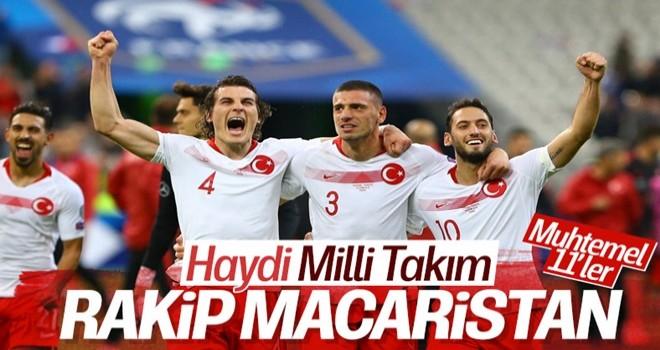 Türkiye-Macaristan maçının muhtemel 11'leri