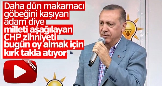 Cumhurbaşkanı Erdoğan CHP'ye yüklendi