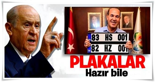 """Bahçeli, """"82 Kerkük, 83 Musul"""" dedi, MHP'li Belediye Başkanı plaka hazırladı"""