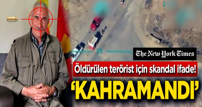 Öldürülen terörist için skandal ifade! 'Kahramandı'