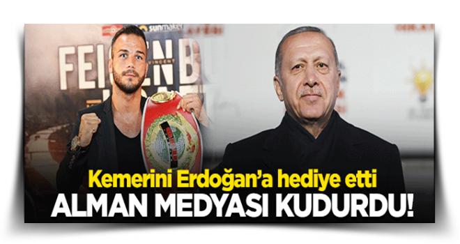 Şükrü Atay kemerini Erdoğan'a hediye etti, Alman medyası kudurdu!