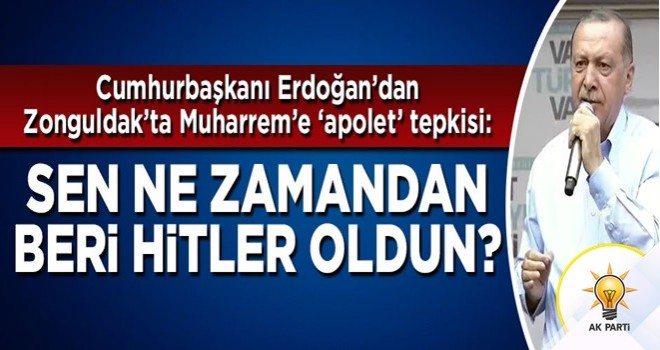 Cumhurbaşkanı Erdoğan İnce'ye sert sözler: Ne zamandan beri Hitler oldun?